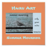 Summer Mourning Haiku Art Print