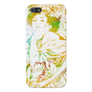 Summer Mucha Case For iPhone SE/5/5s
