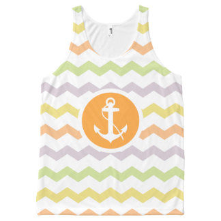 Summer Nautical Theme All-Over Print Tank Top