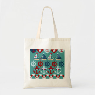Summer Nautical Theme Anchors Sail Boats Helms Tote Bags