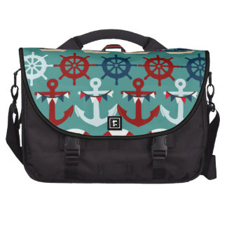 Summer Nautical Theme Anchors Sail Boats Helms Laptop Bags