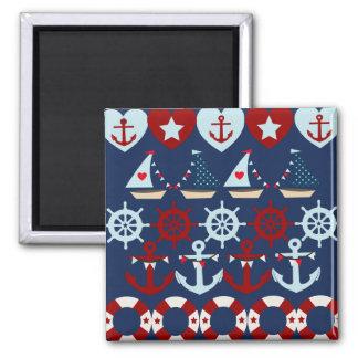 Summer Nautical Theme Anchors Sail Boats Helms Magnet
