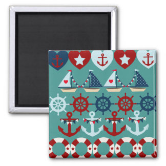 Summer Nautical Theme Anchors Sail Boats Helms Magnets