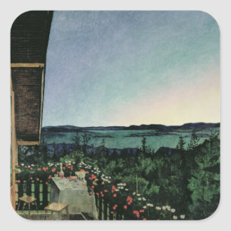 Summer Night, 1899 Square Sticker