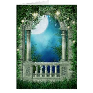 Summer Night Balcony Greeting Card