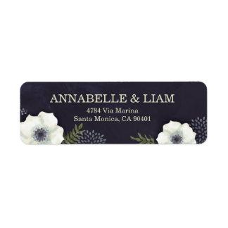 Summer Night Flowers Wedding Address Label