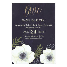 """Summer Night Flowers Wedding Save the Date Card 5"""" X 7"""" Invitation Card at Zazzle"""