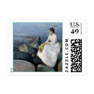 Summer Night. Inger on the Beach by Edvard Munch Postage