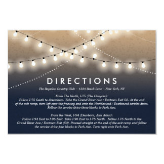Summer Night Lights Directions    Weddings Card
