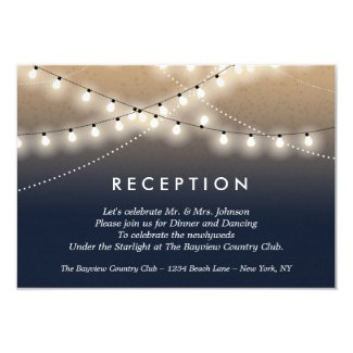 Summer Night Lights Reception  | Weddings Invitation