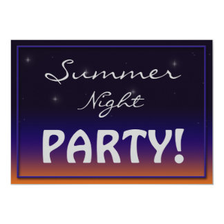 Summer Night Party invitations