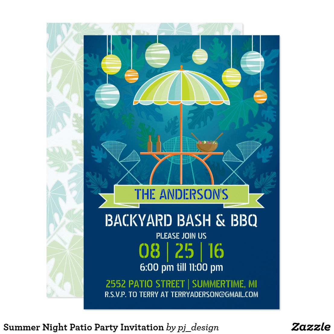 Summer Night Patio Party Invitation