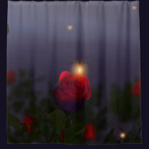 Summer Nightlights Shower Curtain
