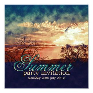 Summer Nights Outdoor Rustic Party Invitation