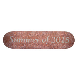 Summer of 2015 Red Clay Court Tennis Skateboard