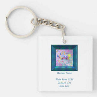 summer of love - the 60s keychain