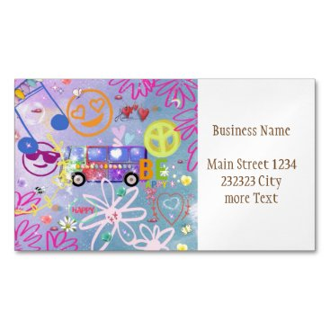 summer of love - the 60s magnetic business card