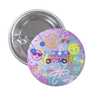 summer of love - the 60s pinback button