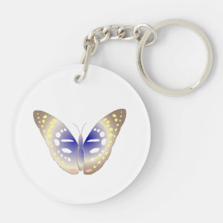 Summer of the plateau Double-Sided round acrylic keychain