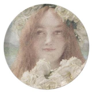 Summer Offering, 1894 (w/c on paper) Melamine Plate