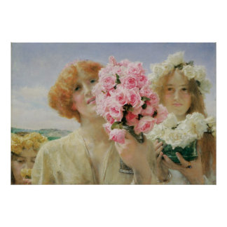 Summer Offering, Alma Tadema, Vintage Romanticism Posters