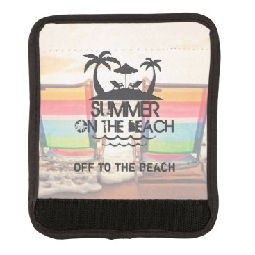 Beach Themed Summer on the  Beach | Personalized Luggage Handle Wrap