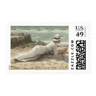 Summer on The Dunes - Niels Frederik Jensen Postage Stamp