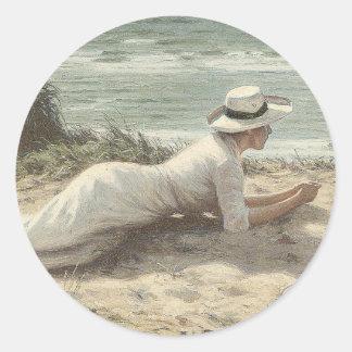 Summer on The Dunes - Niels Frederik Jensen Stickers