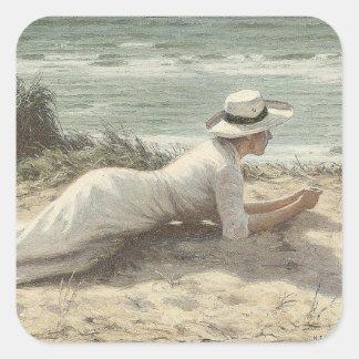 Summer on The Dunes - Niels Frederik Jensen Sticker