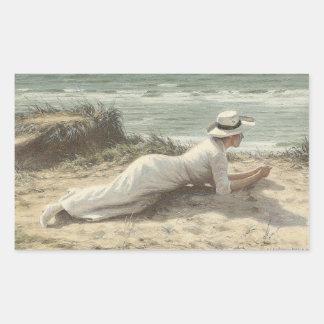 Summer on The Dunes - Niels Frederik Jensen Rectangular Stickers