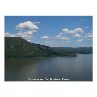 Summer on the Hudson River Poster