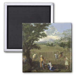Summer, or Ruth and Boaz, 1660-64 2 Inch Square Magnet