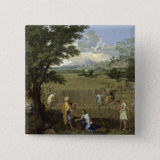 Summer, or Ruth and Boaz, 1660-64 Pinback Button
