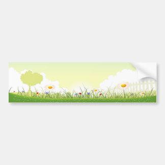 Summer Or Spring Flower Garden Bumper Sticker