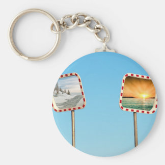 Summer or Winter Keychain