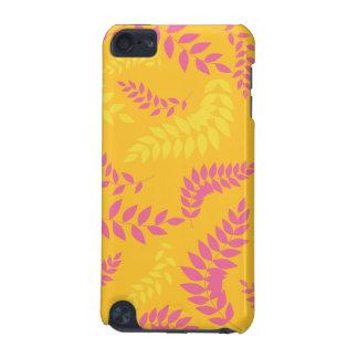 Summer Orange and Pink Ferns Pattern iPod Touch 5G Case