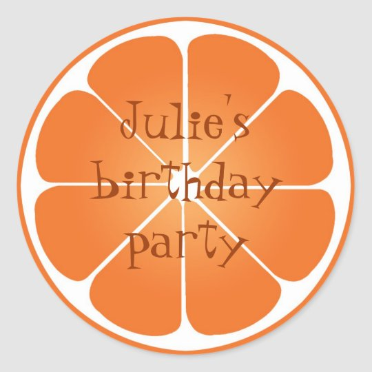 Summer orange citrus party favor seal stickers