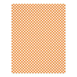 Summer Orange Polka Dot Scrap Book & Craft Paper