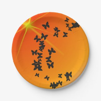 Summer Orange Theme Plate 7 Inch Paper Plate