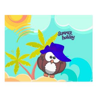 summer owl postcard