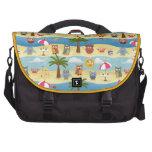 summer owls laptop messenger bag