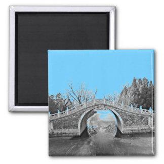 Summer Palace Bridge B&W Magnet