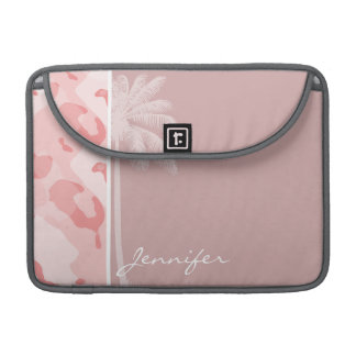 Summer Palm Baby Pink Camo; Camouflage Sleeve For MacBook Pro