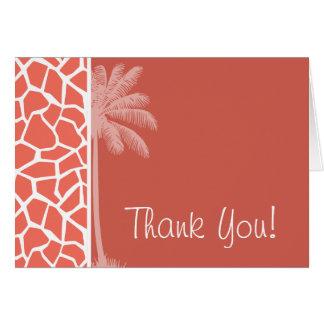 Summer Palm Bittersweet Color Giraffe Animal Print Card