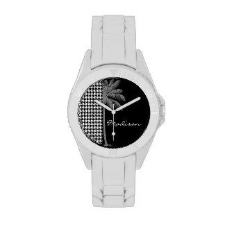 Summer Palm Black Houndstooth Wristwatches