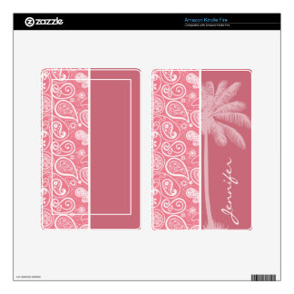 Summer Palm Blush Pink Paisley Floral Kindle Fire Skin