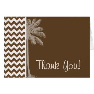 Summer Palm; Brown Chevron; zig zag Card