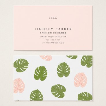 Professional Business Summer Palm Business Card