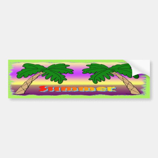 Summer Palm Trees Bumper Sticker