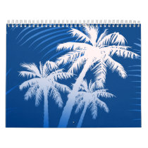 Summer palm trees calendar